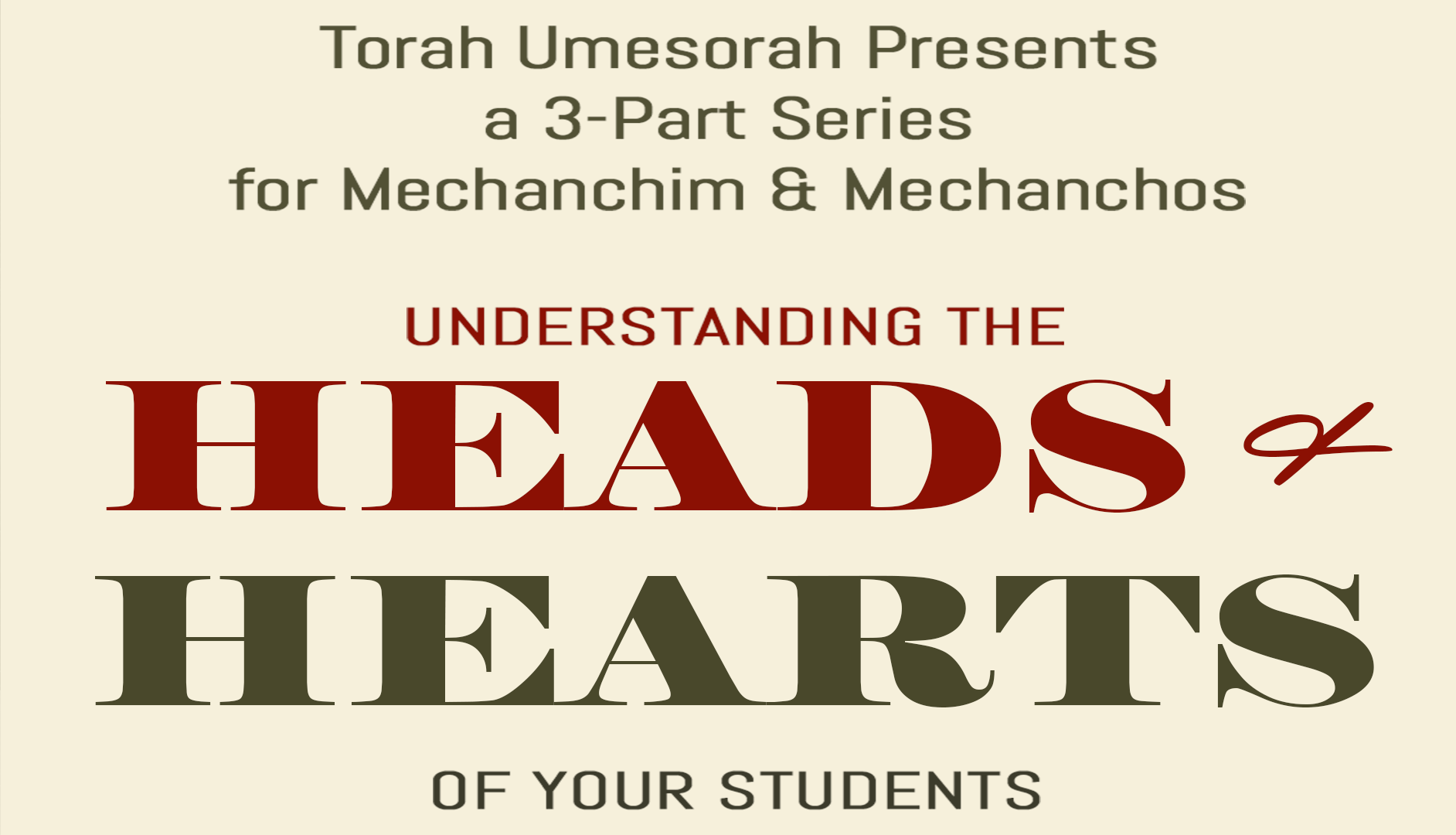 Understanding the Heads & Hearts of Your Students