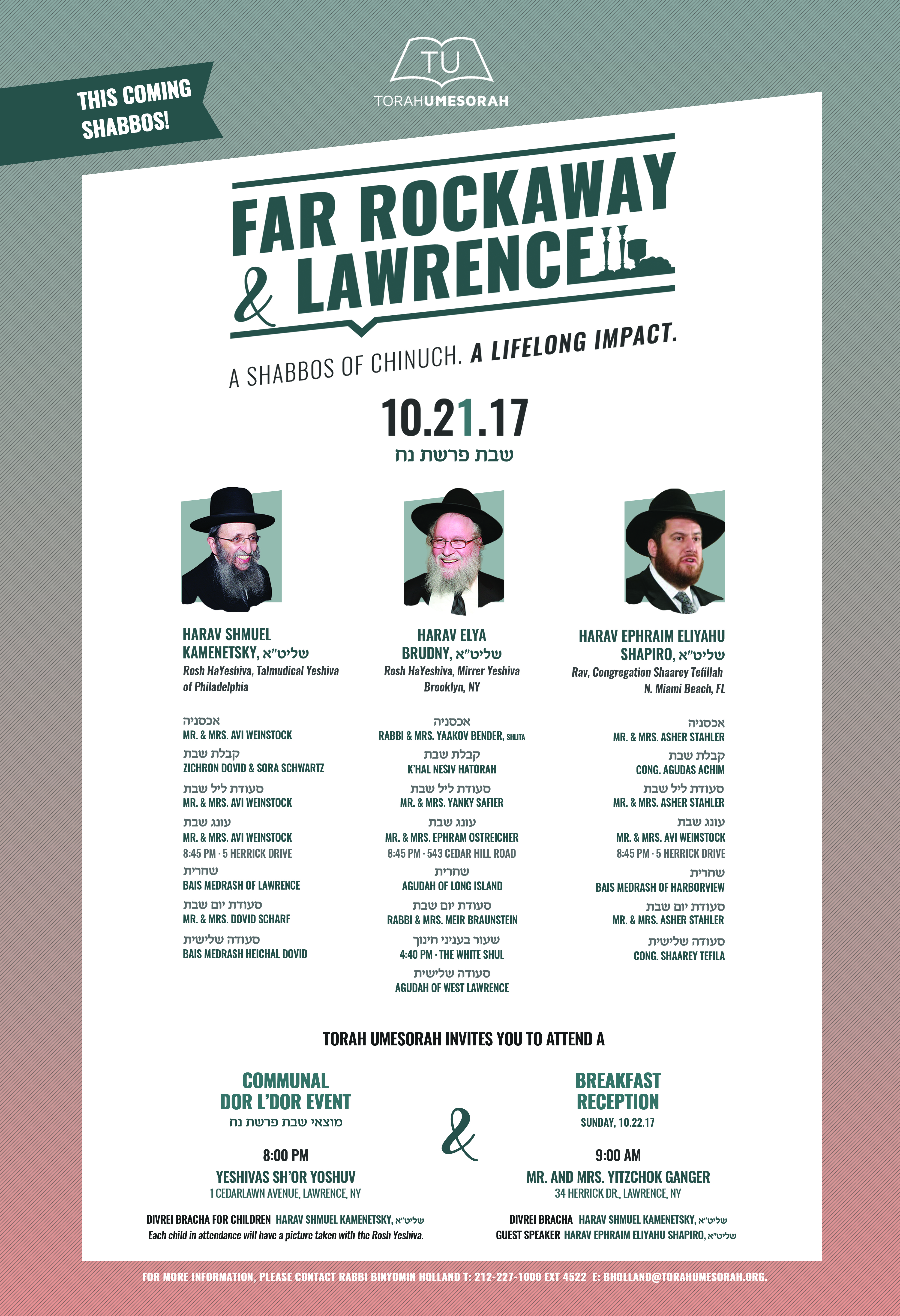 Far Rockaway/Lawrence Shabbos of Chinuch