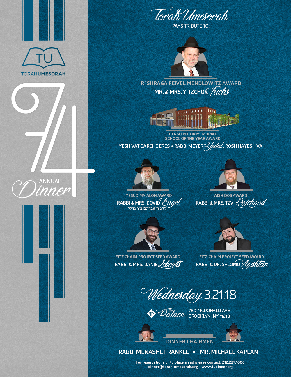 74th Anniversary Celebration Dinner