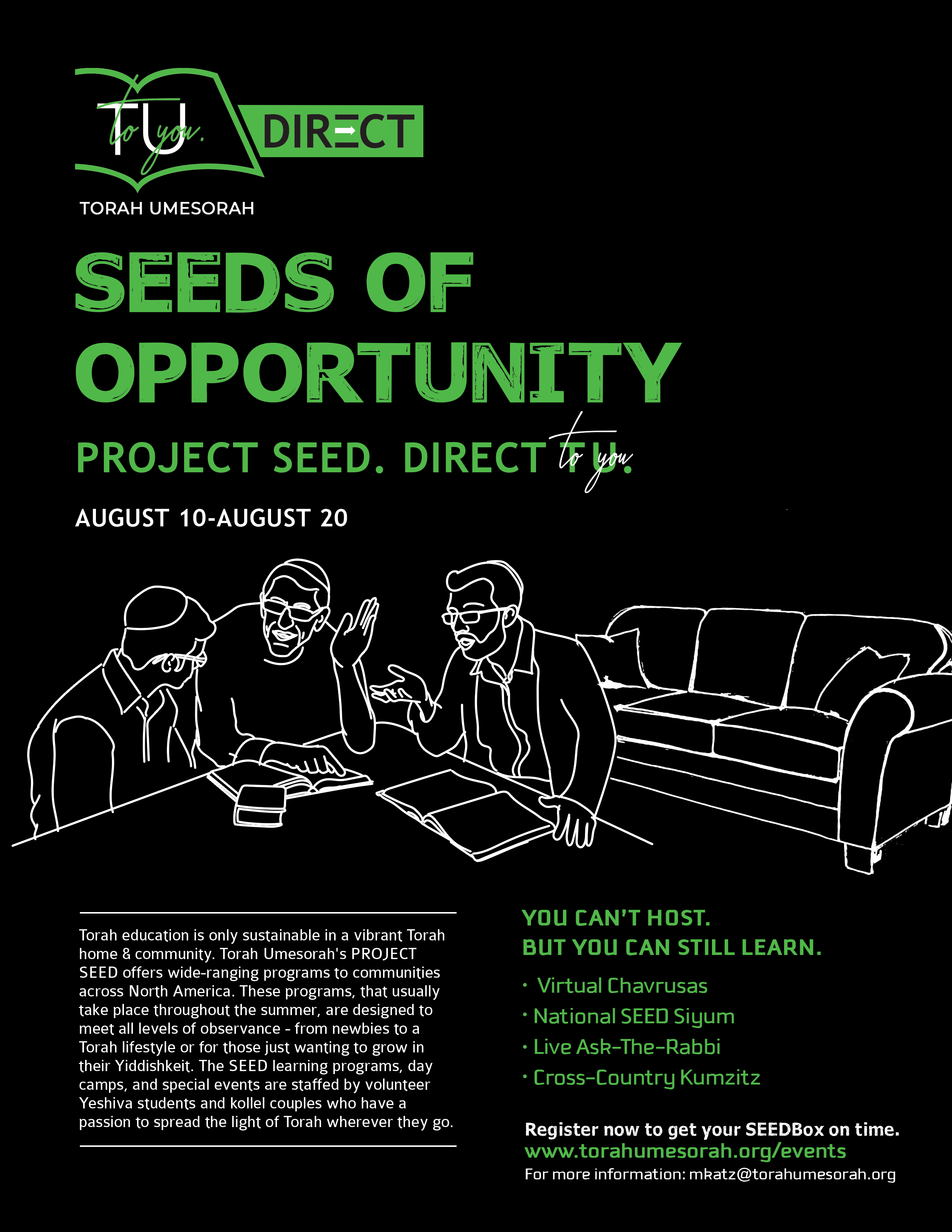 Project SEED: Register your COMMUNITY today!
