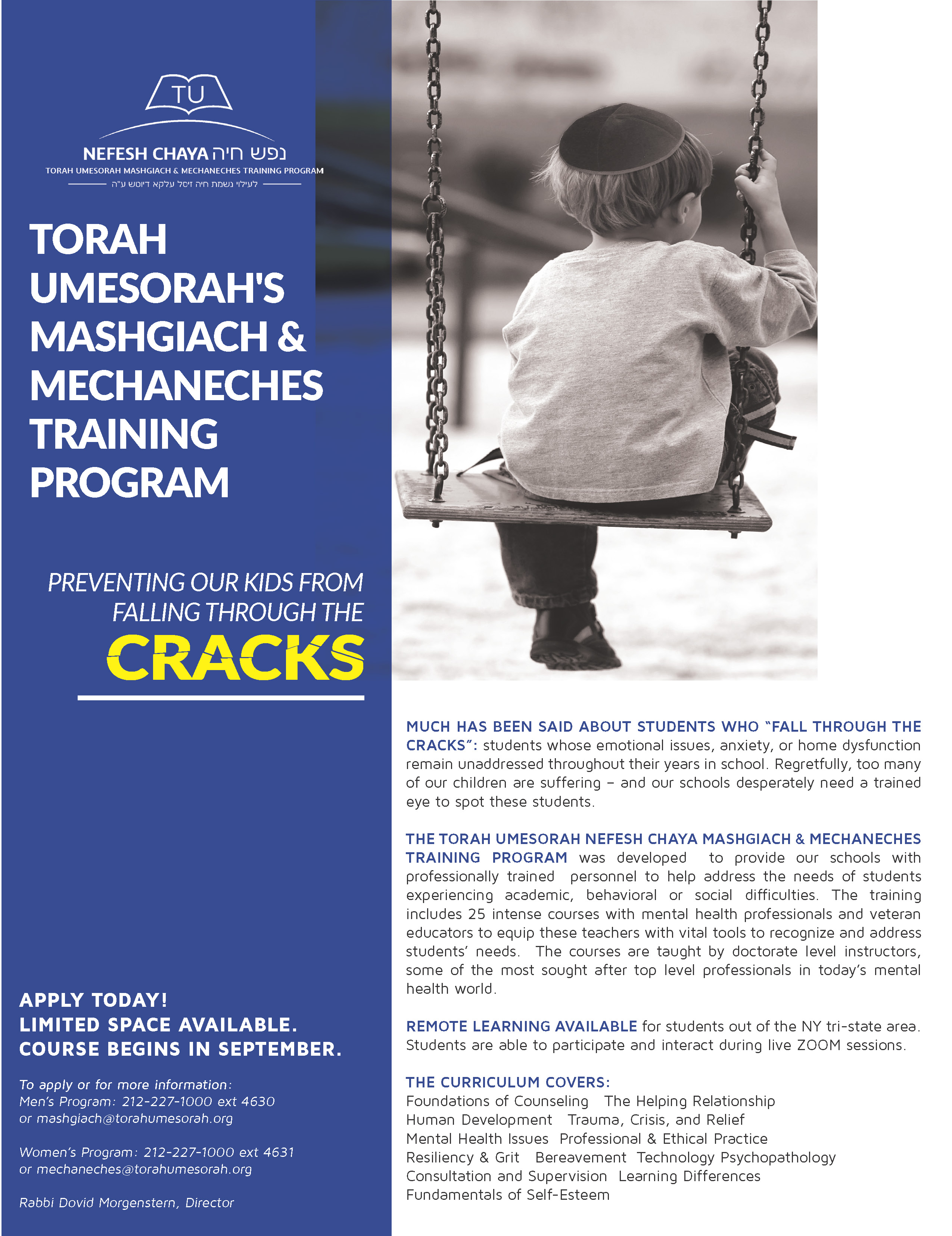 Nefesh Chaya Mashgiach & Mechaneches Training Program