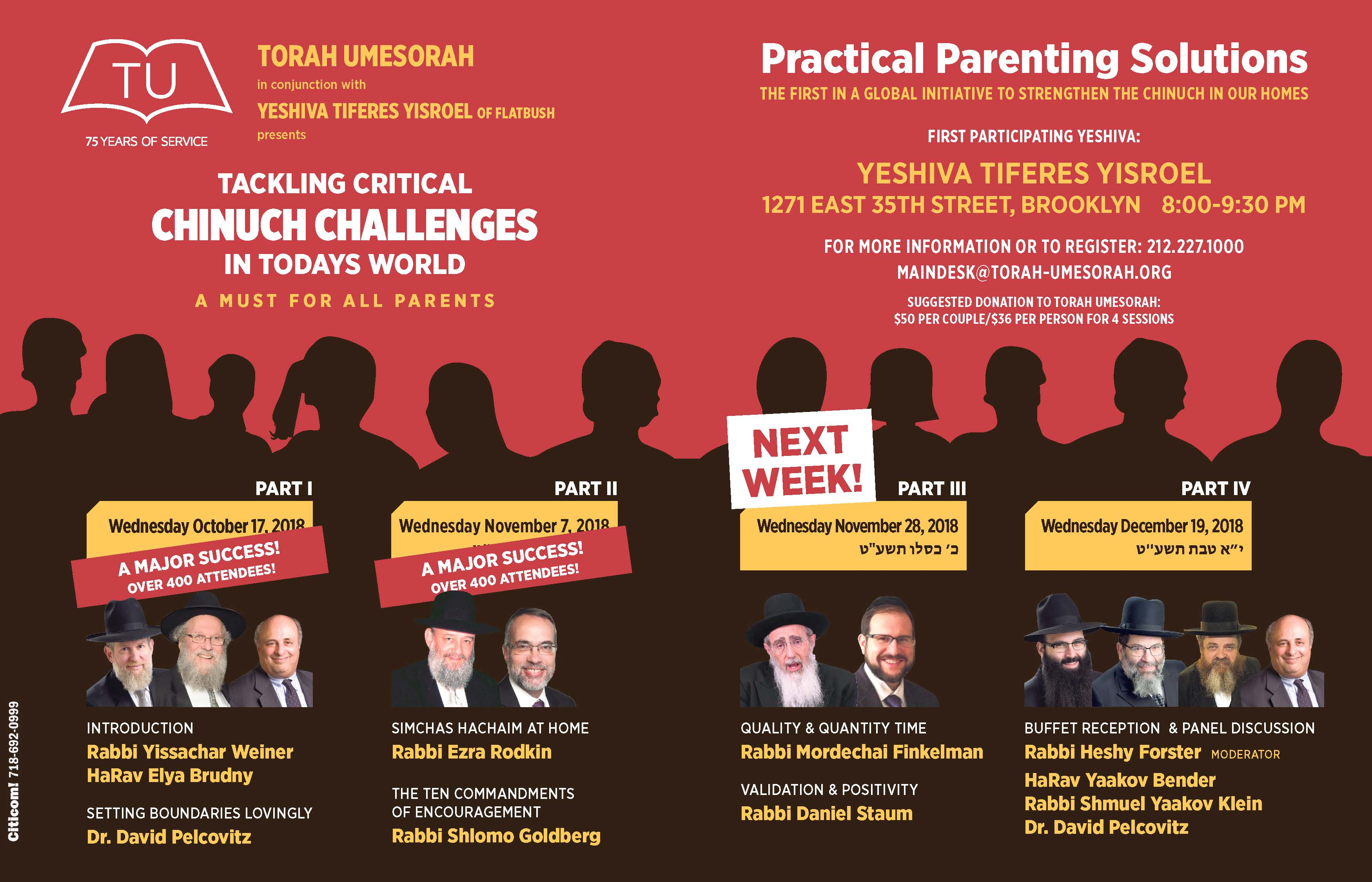 Tackling Critical Chinuch Challenges in Today's World