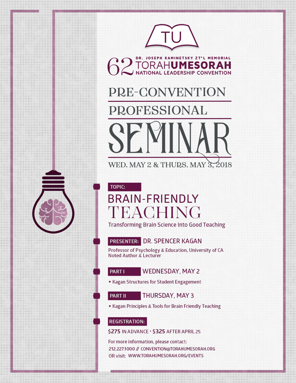 Pre-Convention Professional Seminar