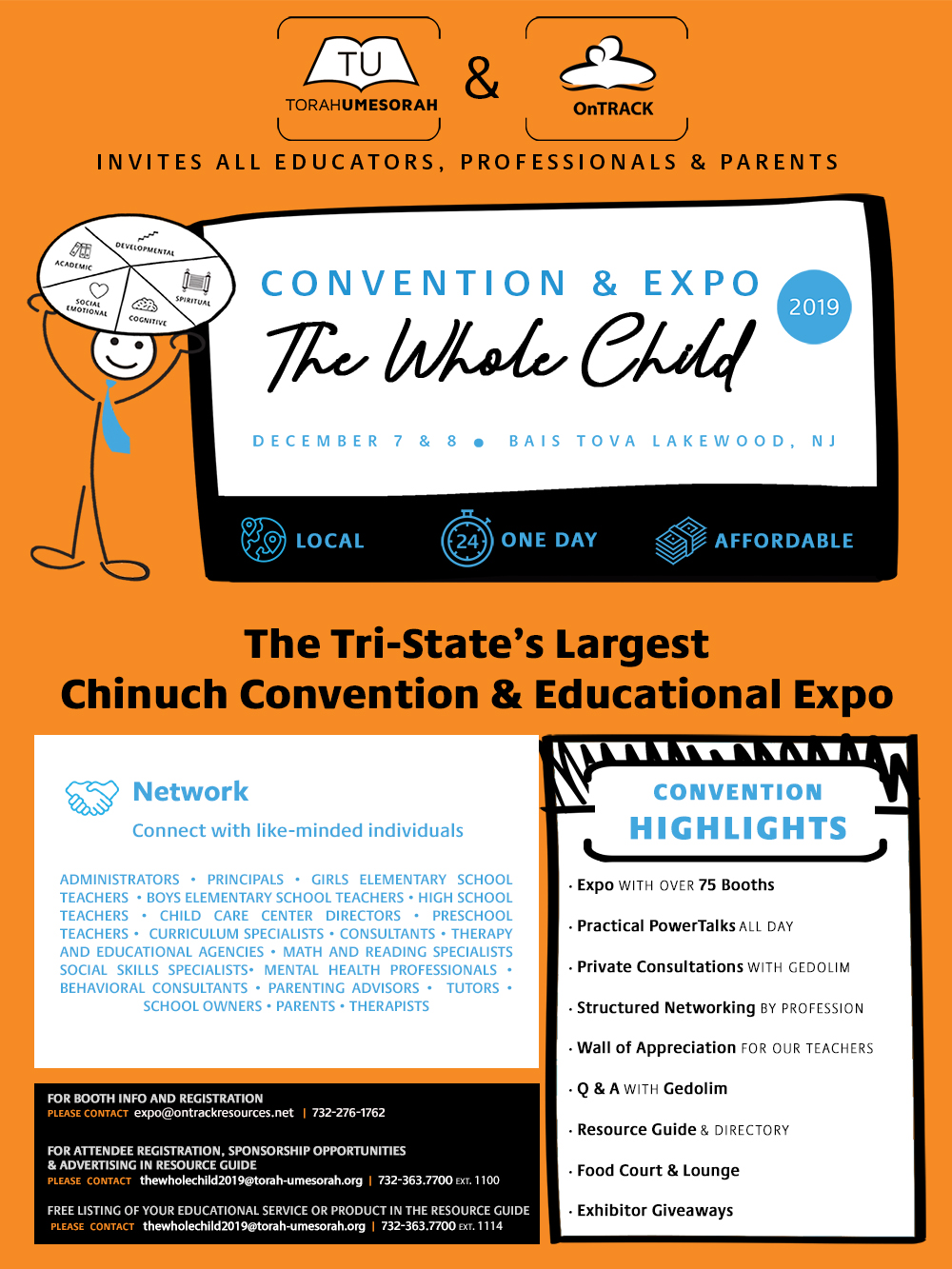 The Whole Child: Chinuch Convention & Educational Expo 2019
