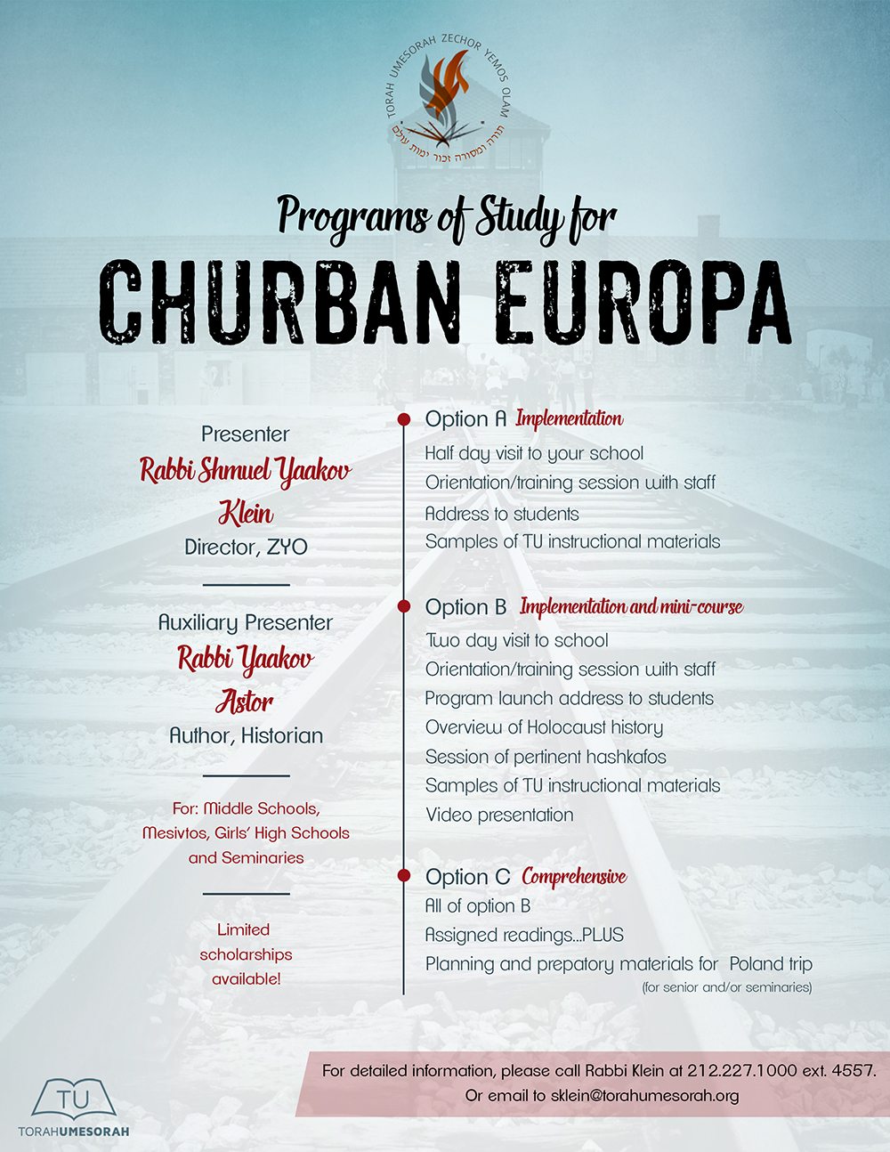 Programs of Study: Churban Europa