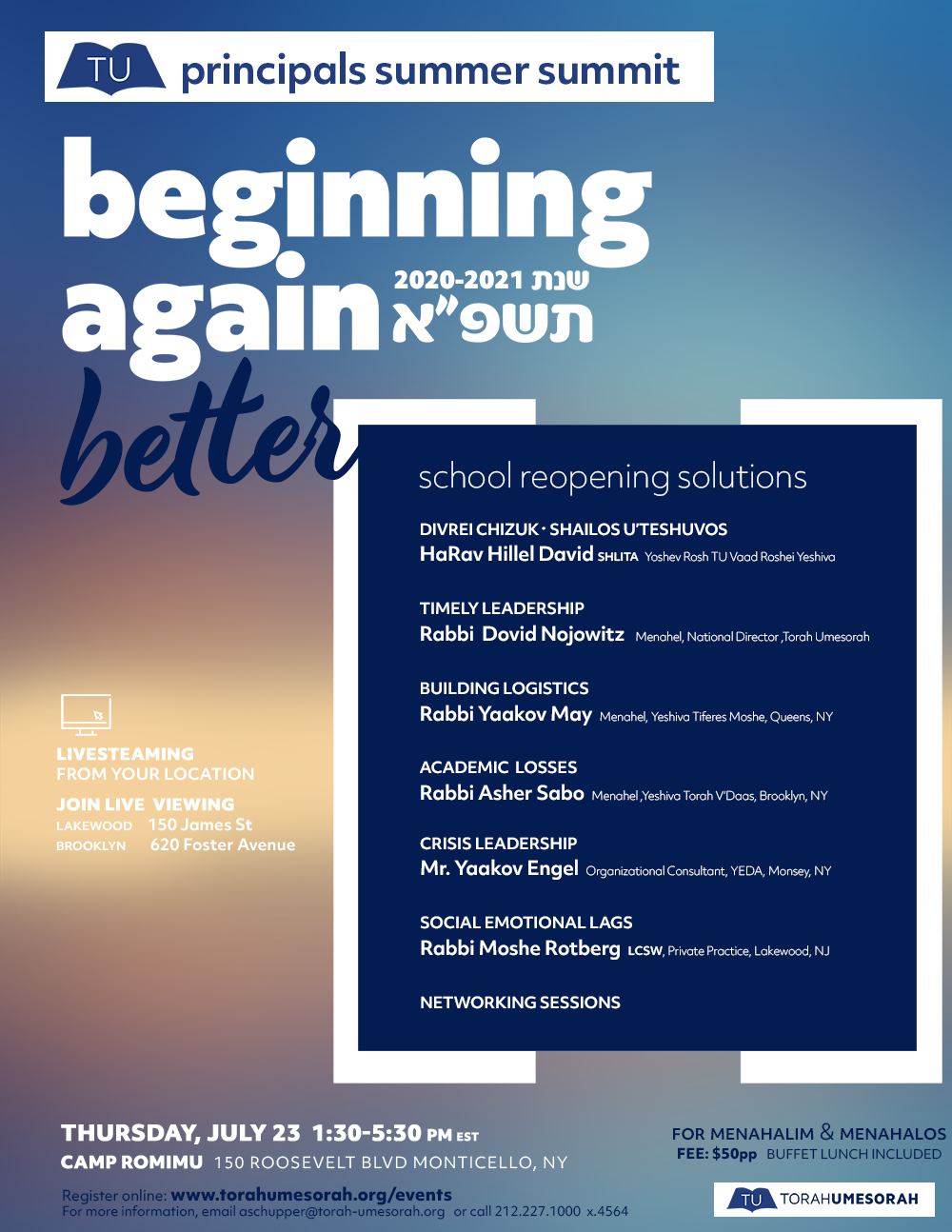 Beginning Again - Better: School Reopening Solutions